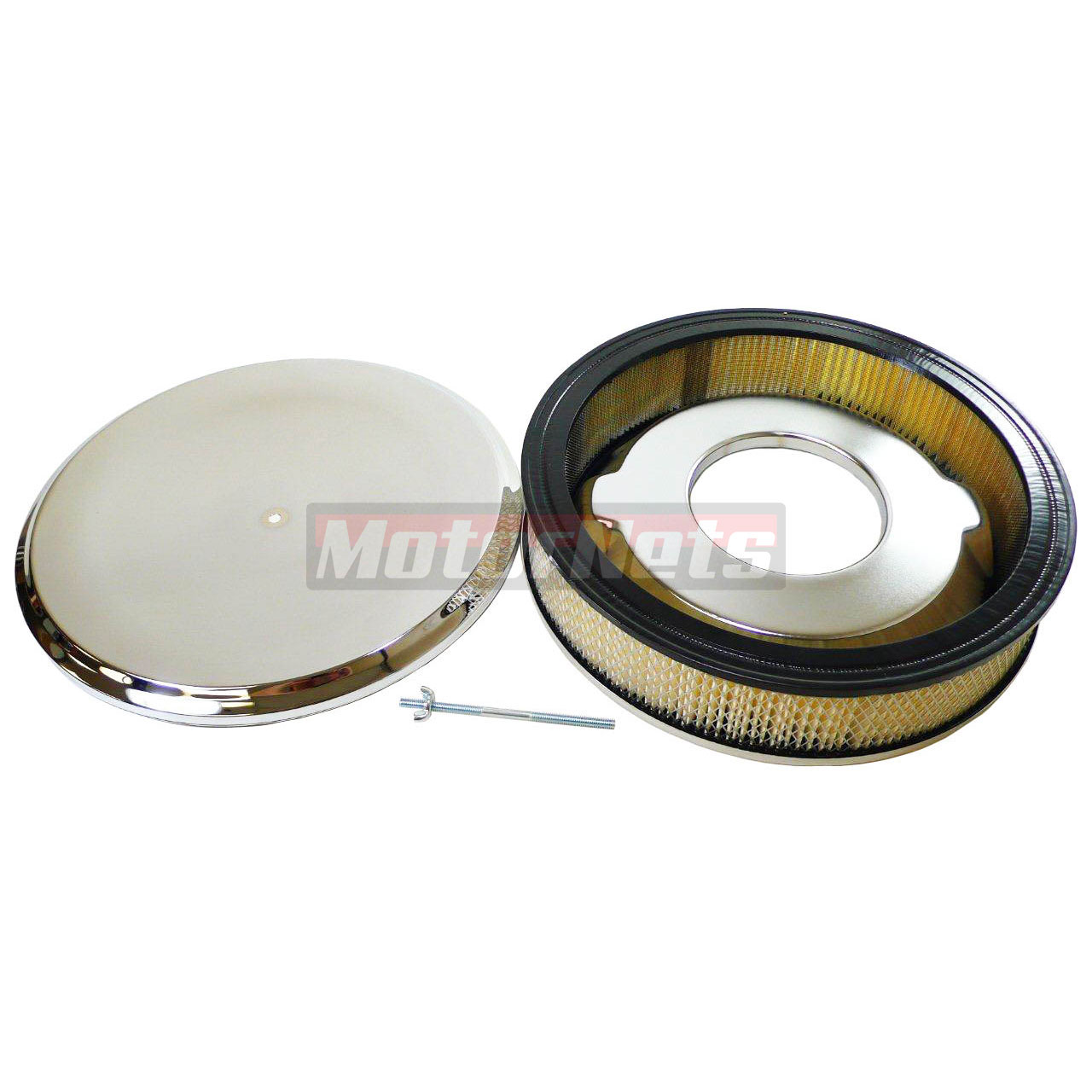 Street Rod Air Cleaners : Quot round deep dish style chrome air cleaner street hot
