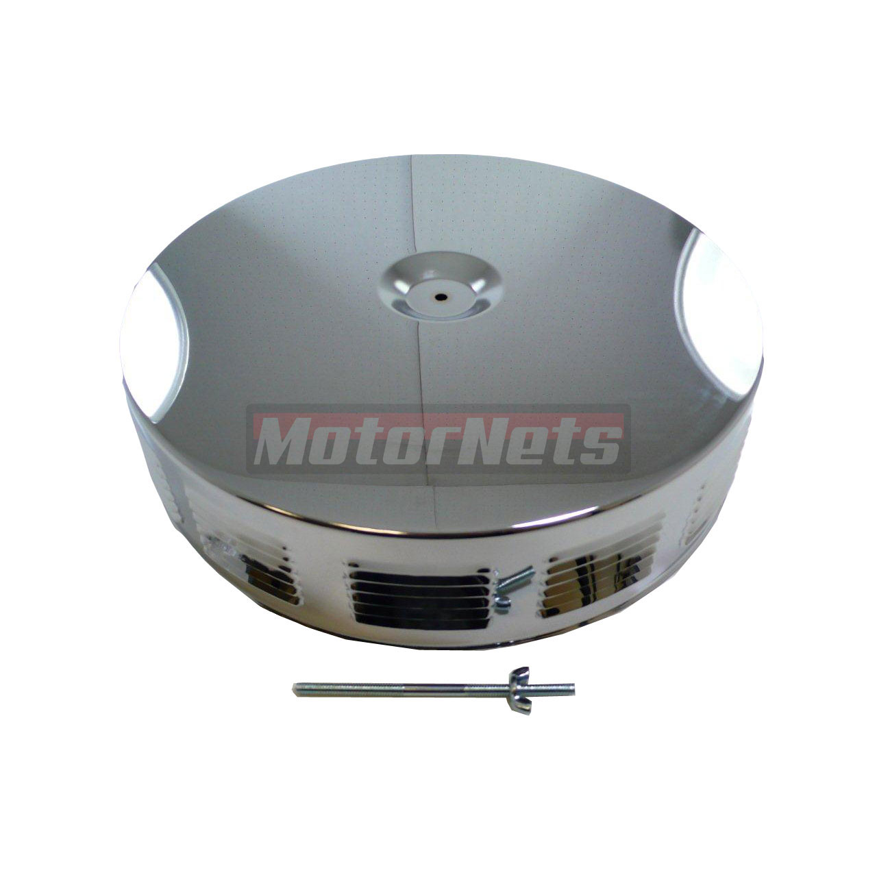 Breather Air Cleaner : Quot round louvered chrome air cleaner street hot rat rod