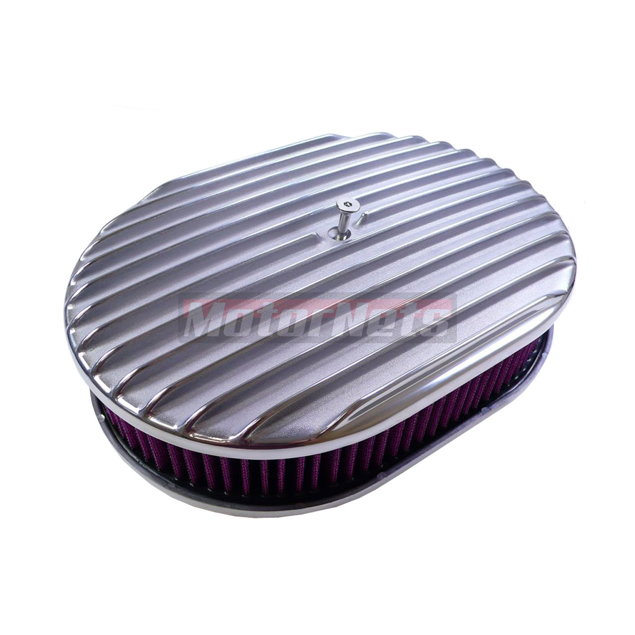 Breather Air Cleaner : Quot nostalgic full finned polished aluminum air cleaner