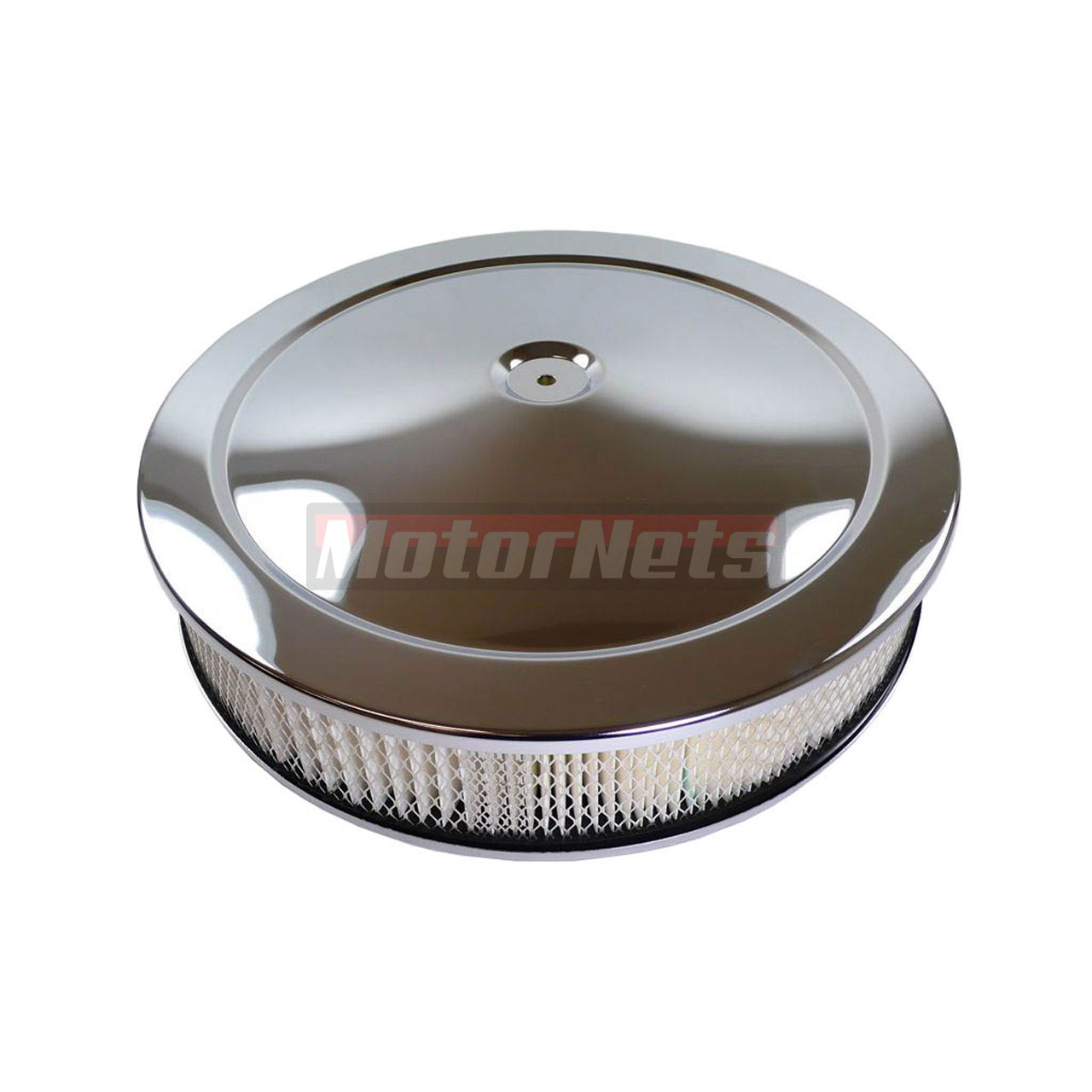 Muscle Car Engine Air Cleaners : Quot round chrome muscle car air cleaner street hot rod