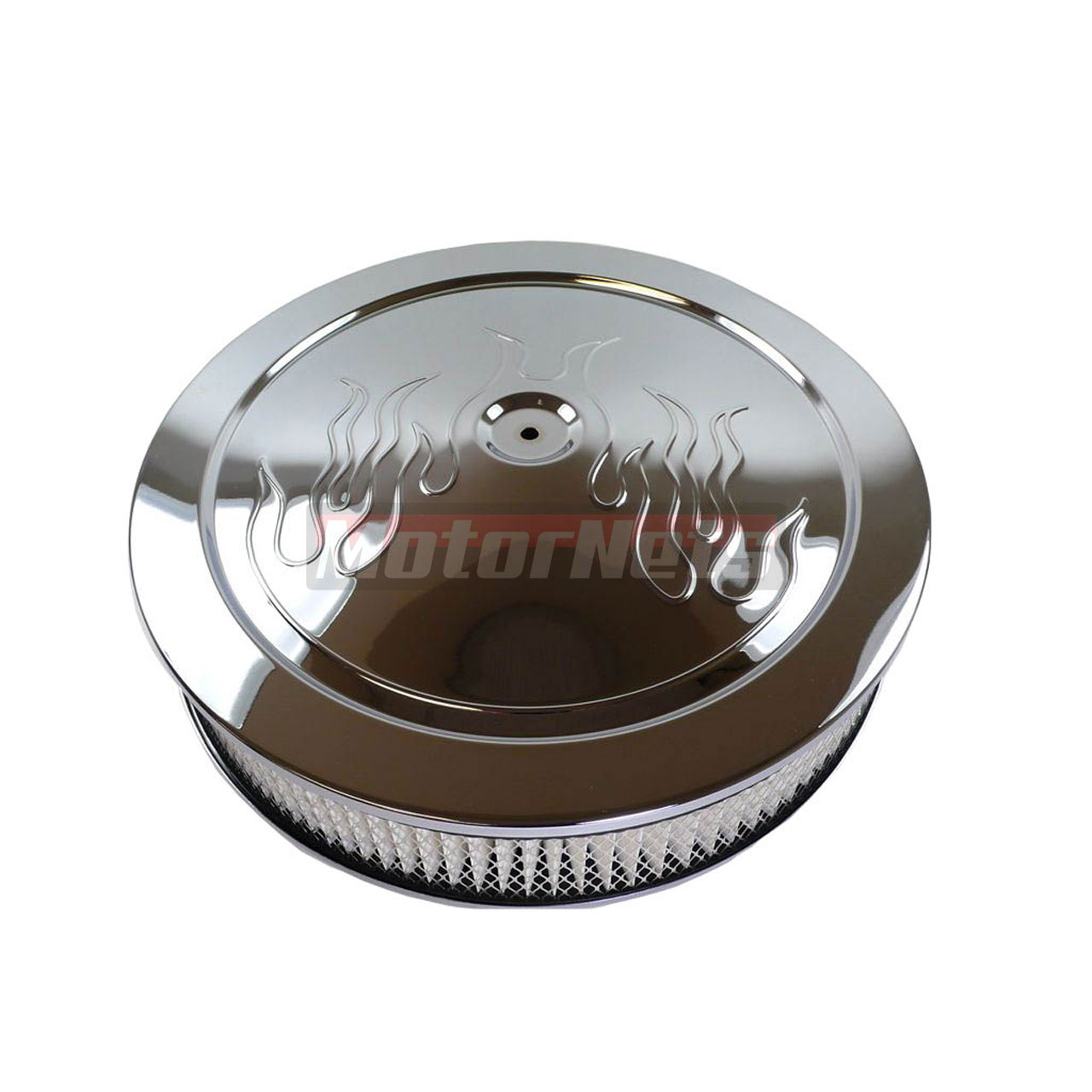 Chrome Cleaner For Cars : Quot round flame chrome steel air cleaner muscle car style