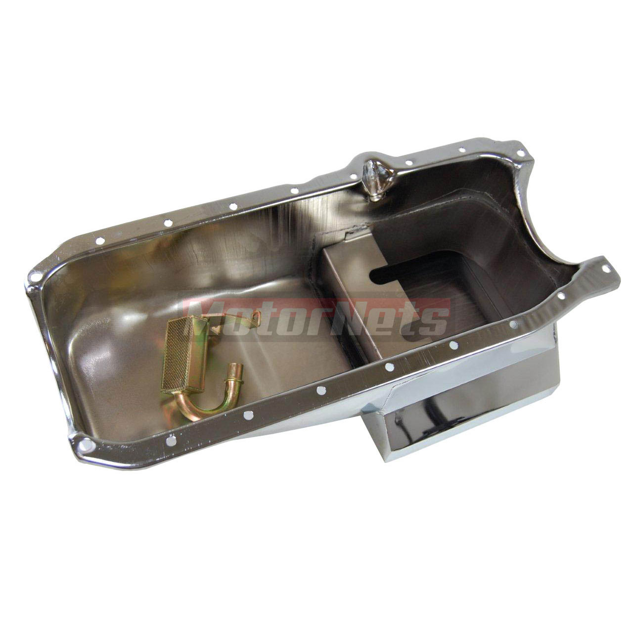 SB Chevy 283-350 Chrome Drag Race 1986-UP Oil Pan 7Qt