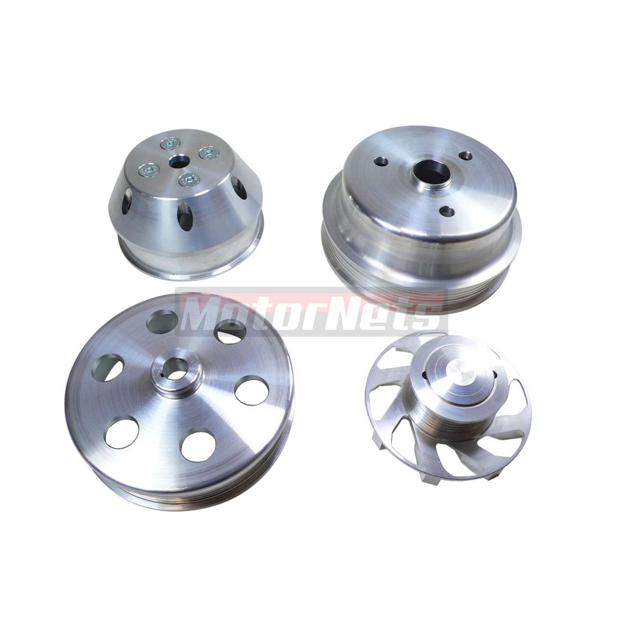 Stain Aluminum LWP SBC Crank Alternator Power Steering