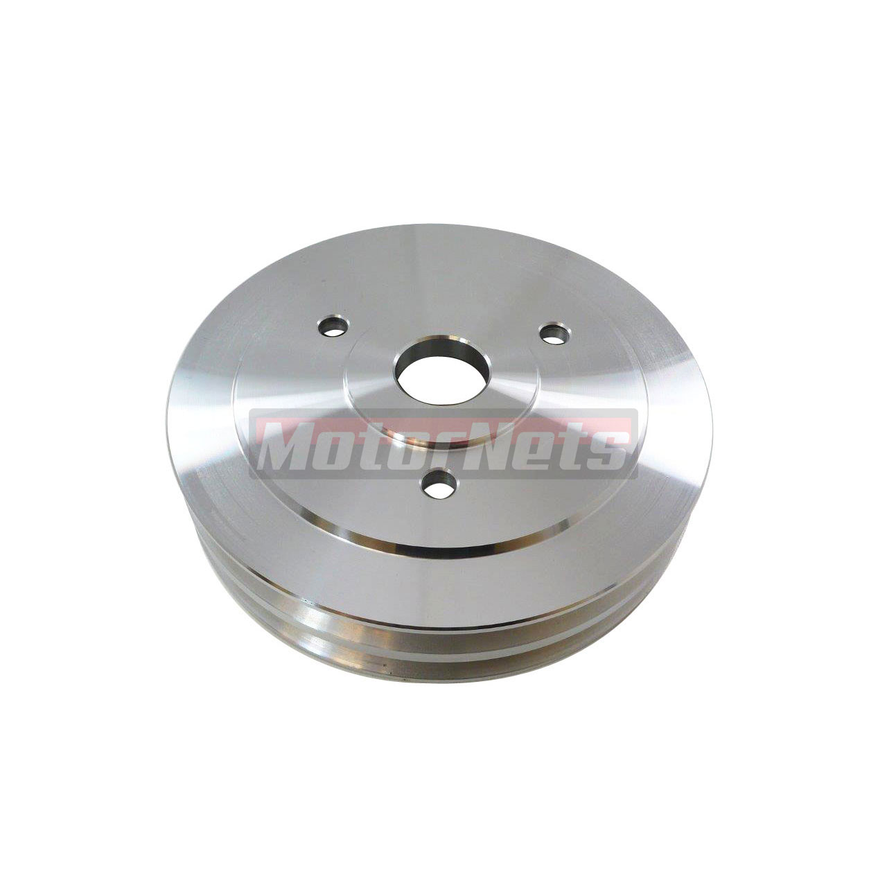 Satin Aluminum BBC Chevy 396-454 Crankshaft Pulley 2