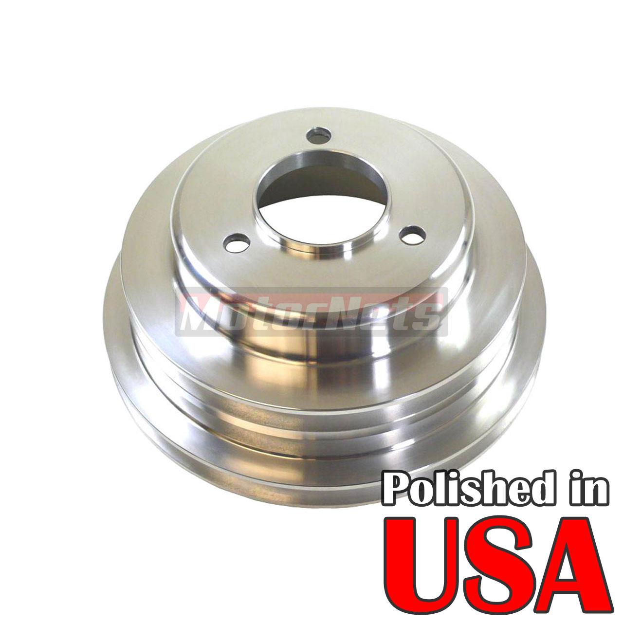 Polished Aluminum BBC Chevy 396-454 Crankshaft Pulley 3