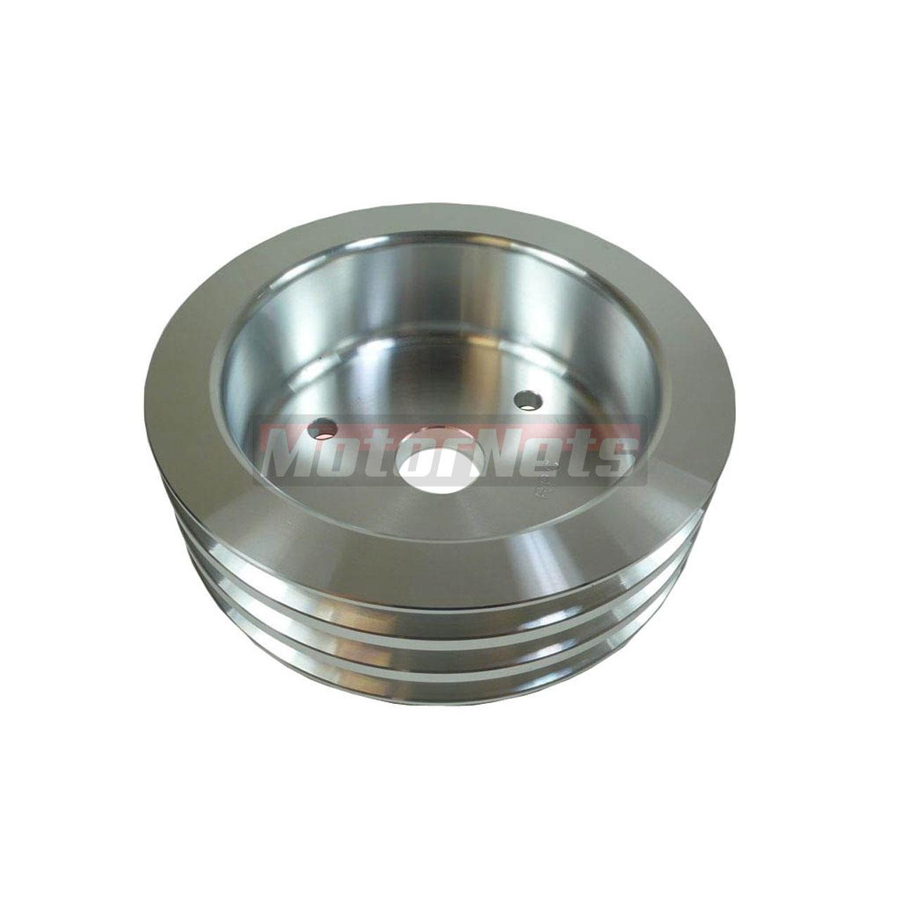 Satin Aluminum Big Block Chevy Crankshaft Pulley 396-454