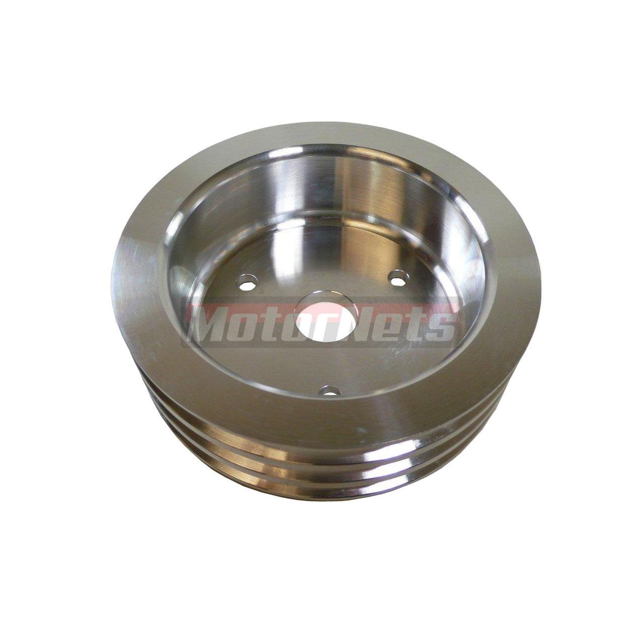 Satin Aluminum Small Block Chevy Short Water Pump Crank