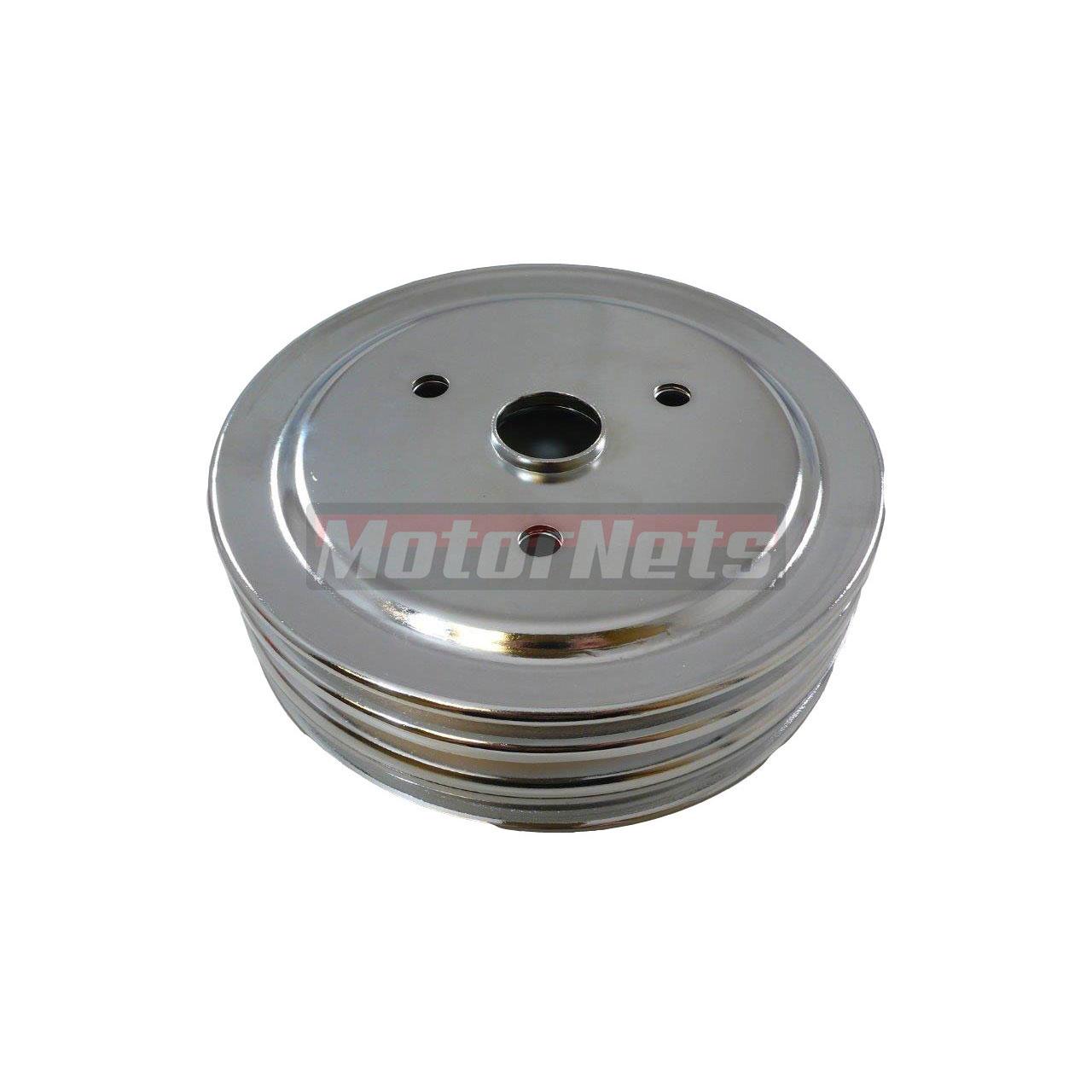 Small Block Chevy Chrome Steel Crankshaft Lower Pulley