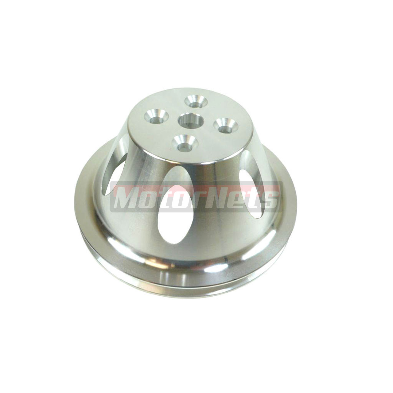 Small Pulleys : Small block chevy billet aluminum groove short water