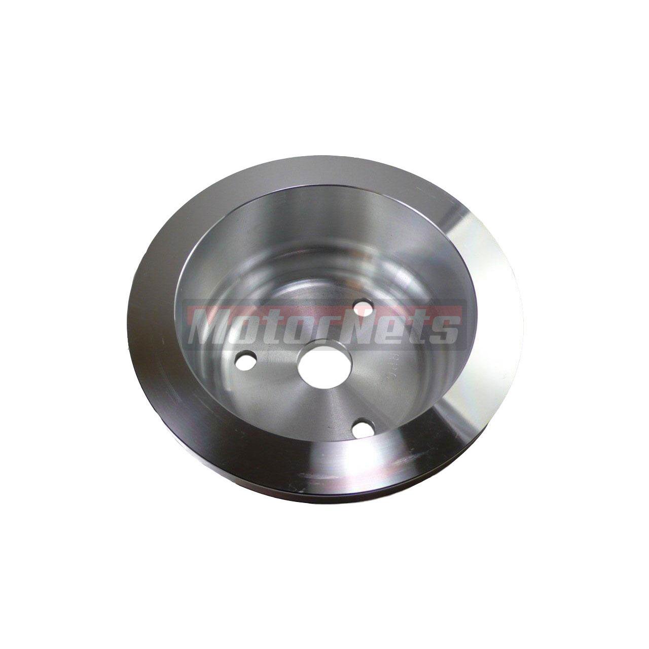 Satin Aluminum Small Block Chevy LWP Crankshaft Pulley