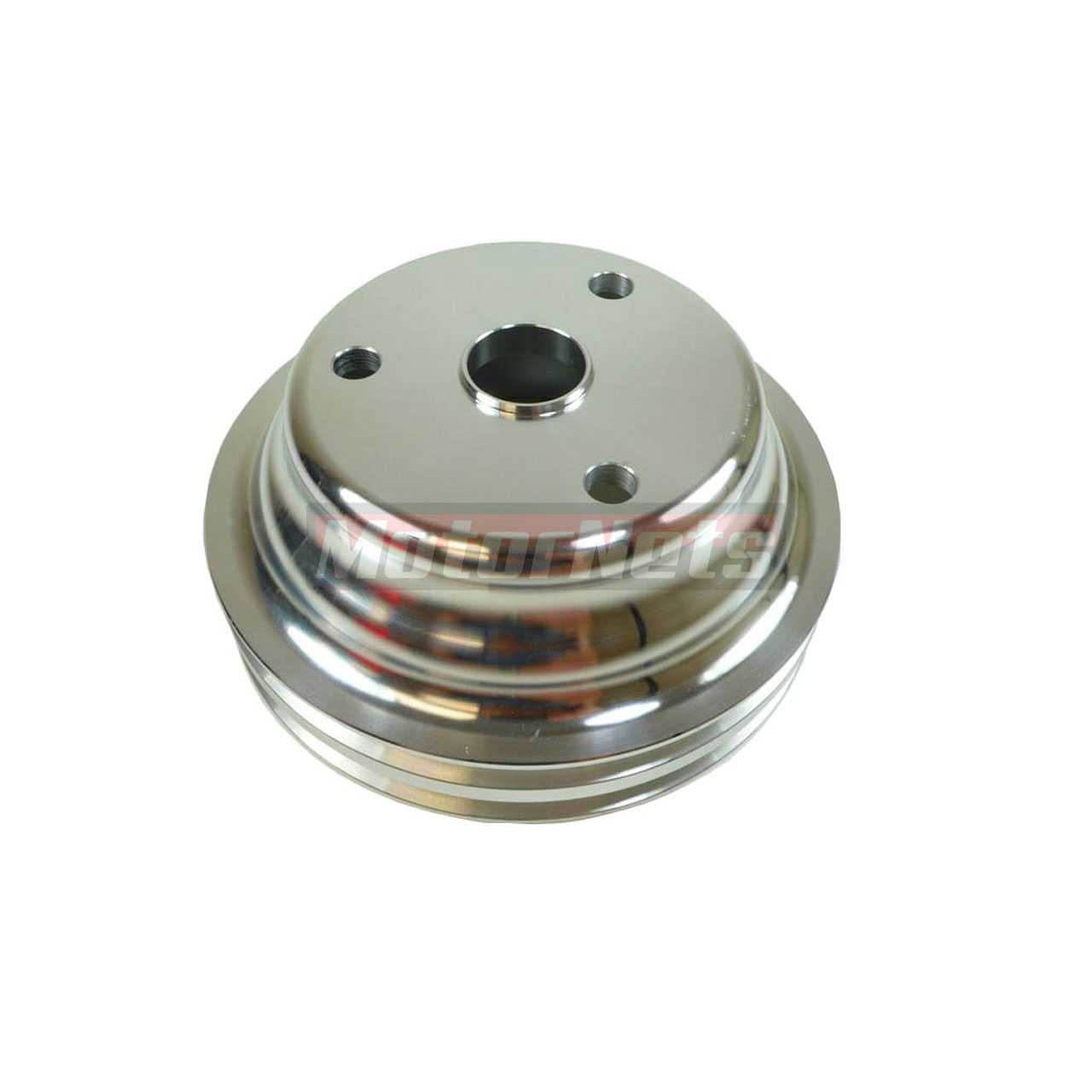 Satin Aluminum SBC Chevy 283-350 Crankshaft Pulley Long