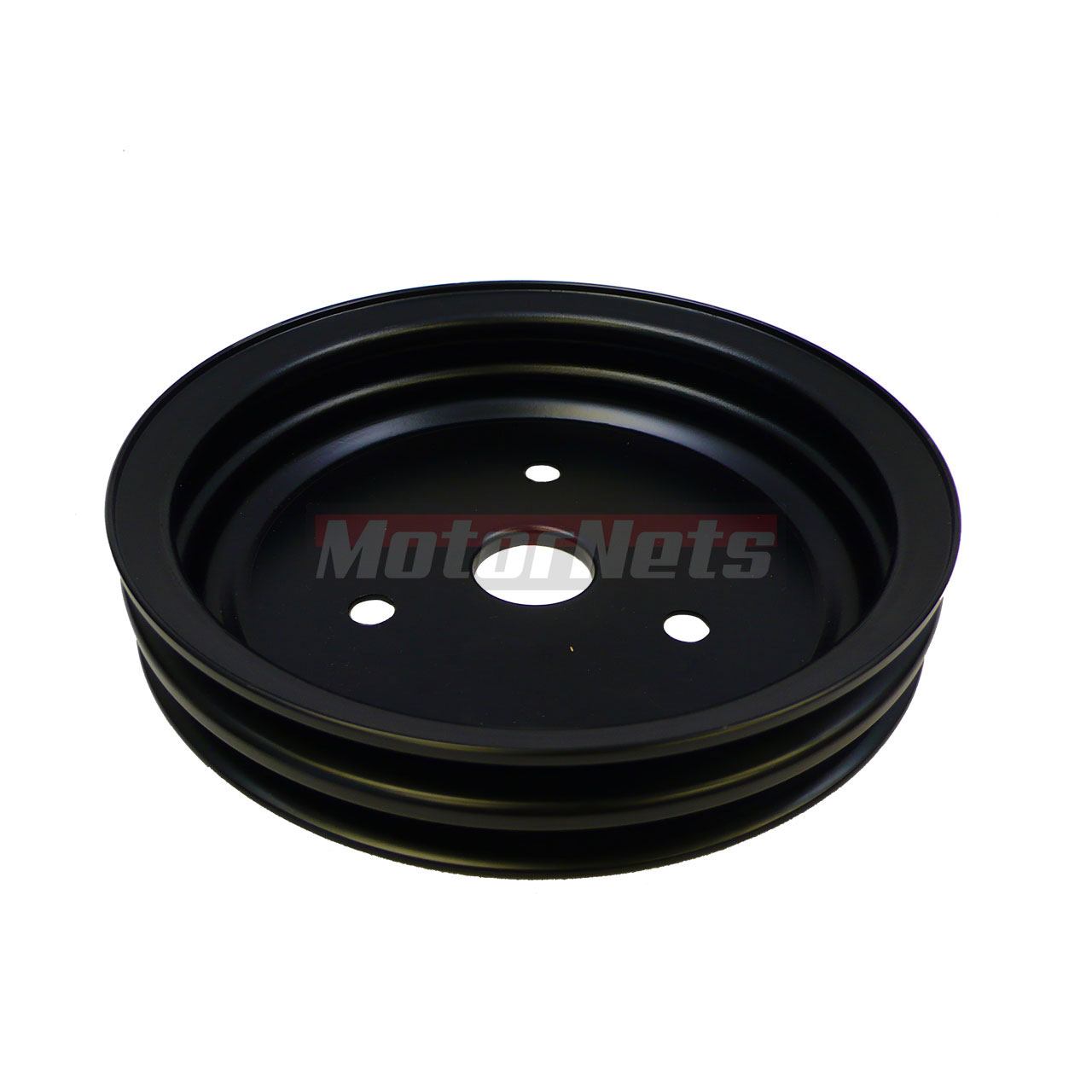 Black Steel SBC Chevy 283-350 Crankshaft Pulley Short